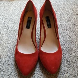 Red Suede Shoes by INC International Concepts